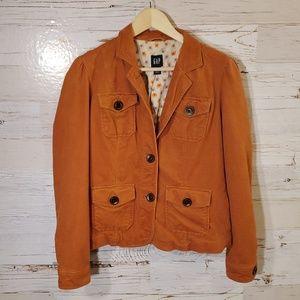 GAP lightweight burnt orange jacket